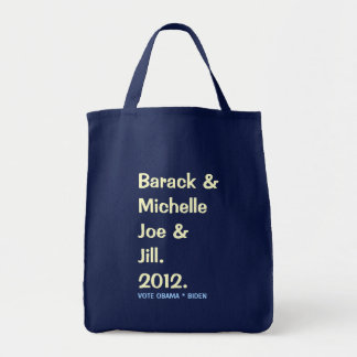 Barack Michelle Joe and Jill 2012 Green Tote