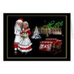 Barack & Michelle Obama Christmas Greeting Card