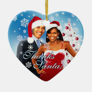 Barack & Michelle Obama Christmas Ornament