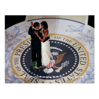 Barack & Michelle Obama dancing at Inaugural Ball Postcard