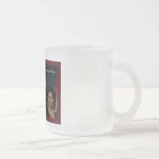 Barack Michelle Obama frosted mug