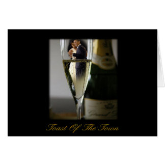 BARACK & MICHELLE OBAMA:  TOAST OF THE TOWN CARD