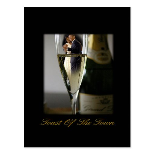 BARACK & MICHELLE OBAMA:  TOAST OF THE TOWN POSTCARDS