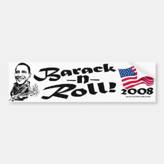 Barack N' Roll Bumper Sticker  Car Bumper Sticker