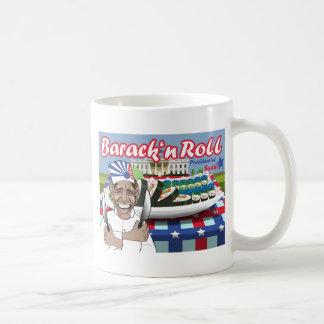 Barack n' Roll from Presidential Sushi Classic White Coffee Mug