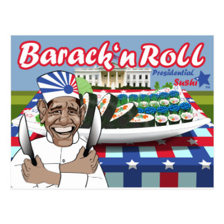 Barack n' Roll from Presidential Sushi Post Cards