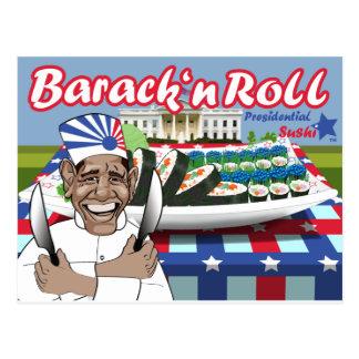 Barack n' Roll from Presidential Sushi Postcard