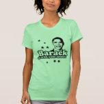 Barack nosotros con su camiseta del comité
