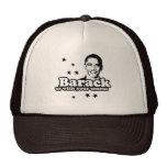 Barack nosotros con su camiseta del comité gorro de camionero
