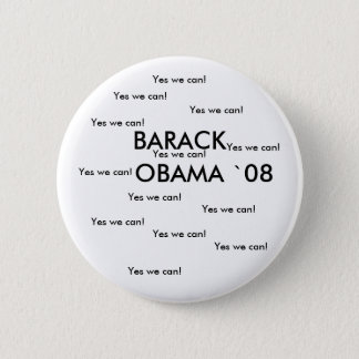 BARACK OBAMA `08 Button