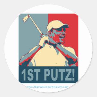"""Barack Obama """"1st Putz"""" Sticker"""