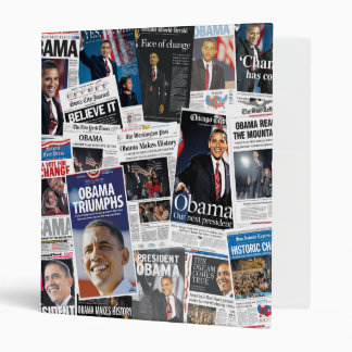Barack Obama 2008/2012 carpeta del periódico de Fr