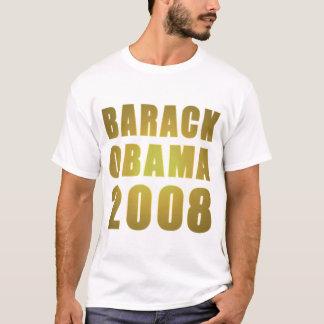 Barack Obama 2008 in Gold Letters T-Shirt