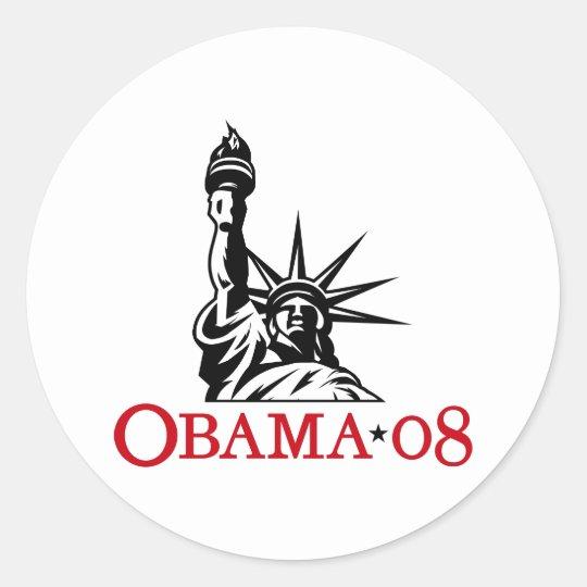 Barack Obama 2008 Statue of Liberty Sticker
