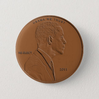 Barack Obama 2011 Penny Button Pin
