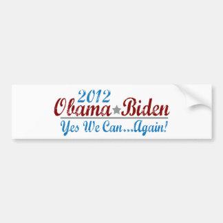 Barack Obama 2012 Again Bumper Sticker