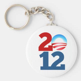 Barack Obama 2012 Basic Round Button Keychain