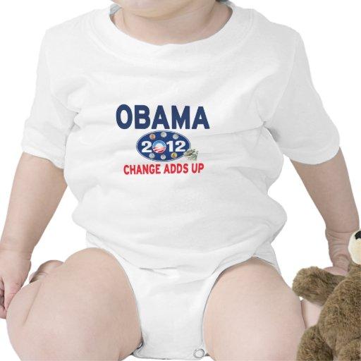 Barack Obama 2012 - Cambie añade para arriba (la r Trajes De Bebé