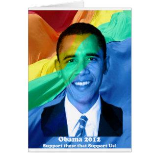 Barack Obama 2012 Greeting Card