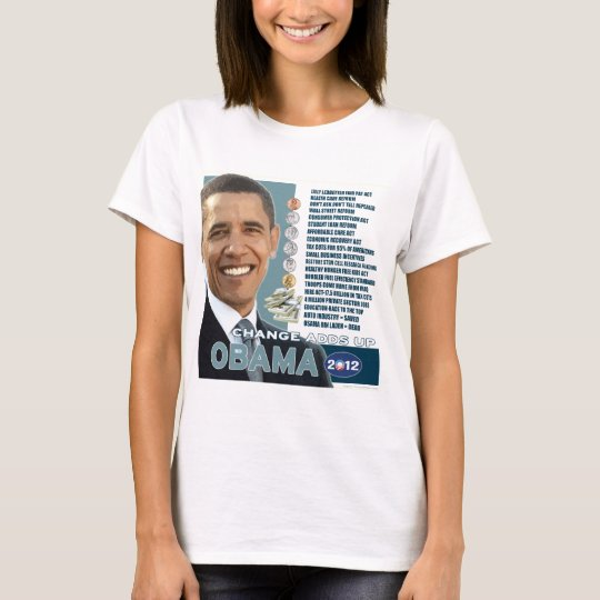 Barack Obama 2012 - Change Adds Up (3) T-Shirt