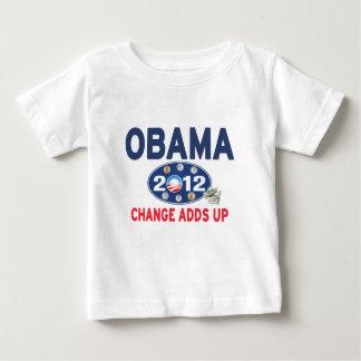 Barack Obama 2012 - Change Adds Up (light apparel) Baby T-Shirt