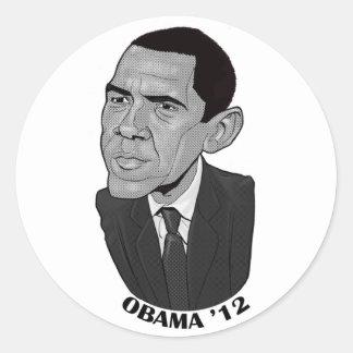 Barack Obama 2012 Classic Round Sticker