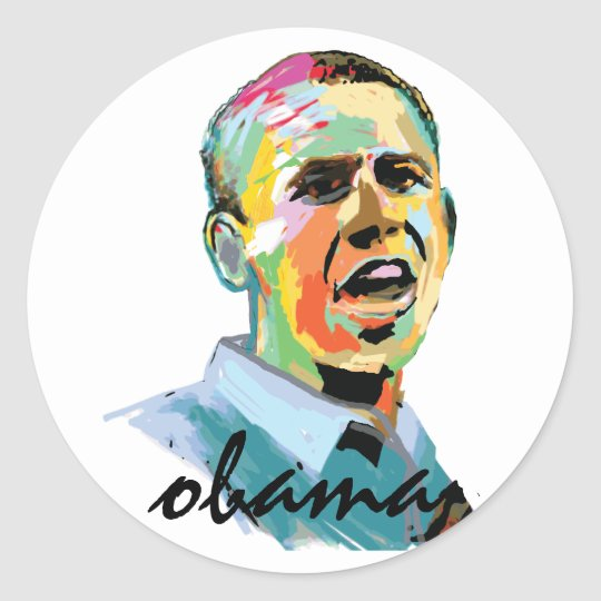 Barack Obama 2012 Classic Round Sticker