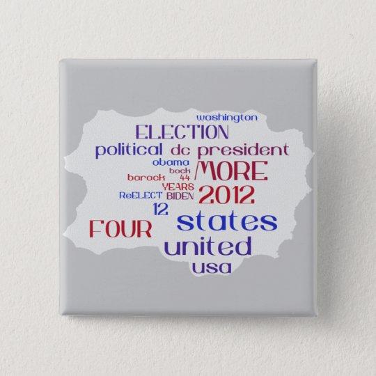 Barack Obama 2012 Cloud Button