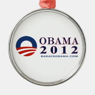 Barack Obama 2012 con el logotipo de Obama Adornos De Navidad