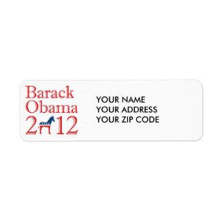 BARACK OBAMA 2012 DEMOCRAT -.png Return Address Label