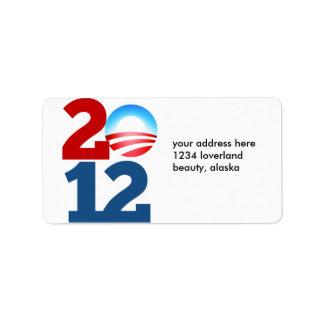 Barack Obama 2012 Etiquetas De Dirección
