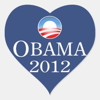 Barack Obama 2012 Heart Sticker