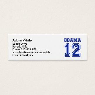 Barack Obama 2012 Mini Business Card