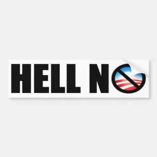 ¿Barack Obama 2012? ¡No! Pegatina Para Auto
