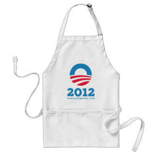 "Barack Obama 2012 ""O"" (blanco) Delantal"