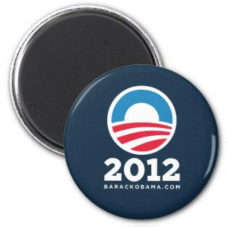 "Barack Obama 2012 ""O"" Logo (Dark Blue) Magnet"