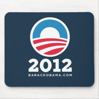 "Barack Obama 2012 ""O"" Logo (Dark Blue) Mouse Pad"