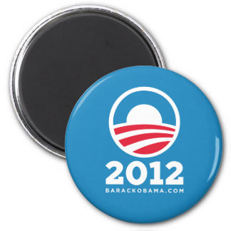 "Barack Obama 2012 ""O"" Logo (Light Blue) 2 Inch Round Magnet"