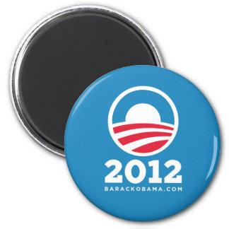 Barack Obama 2012 O Logo Light Blue Refrigerator Magnets