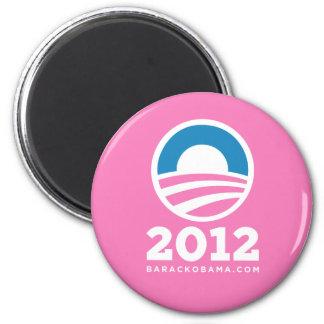 """Barack Obama 2012 """"O"""" Logo (Pink) Magnet"""
