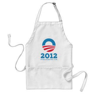 """Barack Obama 2012 """"O"""" (White) Adult Apron"""