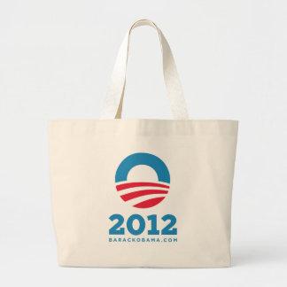 "Barack Obama 2012 ""O"" (White) Canvas Bags"