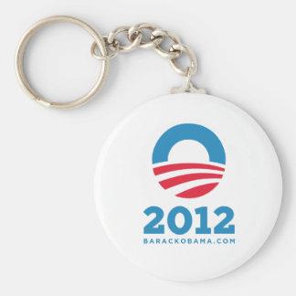 "Barack Obama 2012 ""O"" (White) Basic Round Button Keychain"