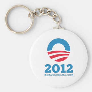 "Barack Obama 2012 ""O"" (White) Keychain"
