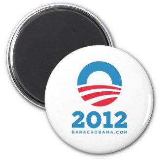 """Barack Obama 2012 """"O"""" (White) Magnet"""