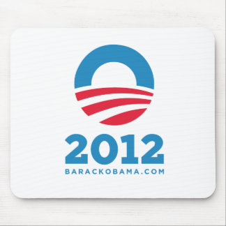 "Barack Obama 2012 ""O"" (White) Mouse Pad"