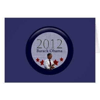 Barack Obama 2012 Presidential Election Card