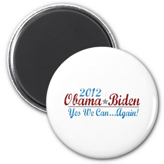 barack obama 2012 re-elect 2 inch round magnet