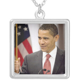 Barack Obama 2012 Silver Plated Necklace