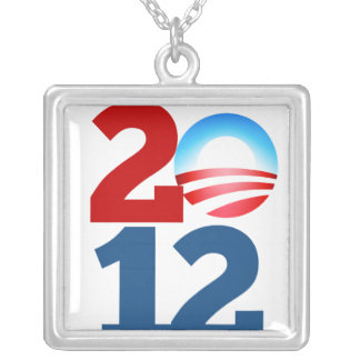 Barack Obama 2012 Square Pendant Necklace